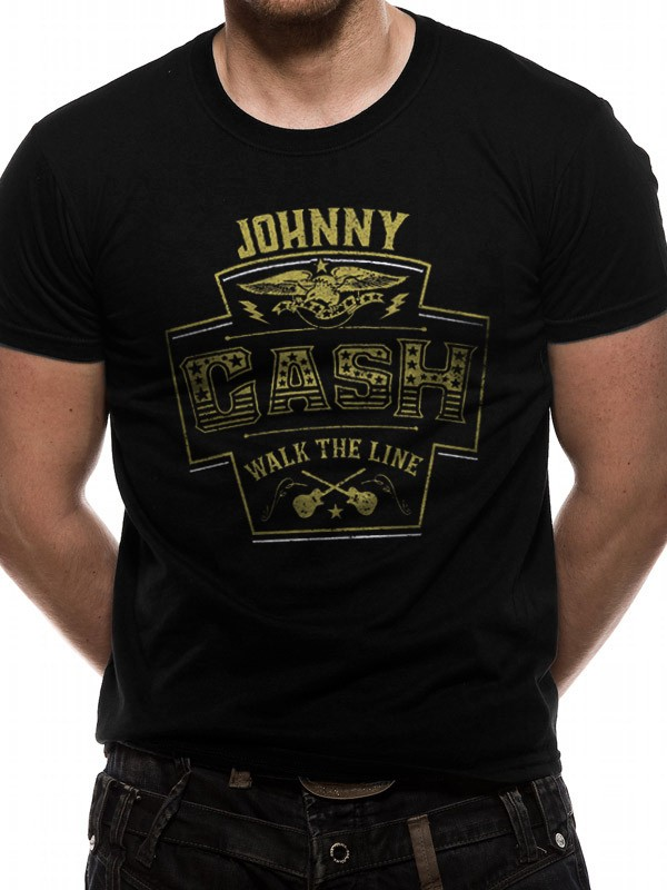 T-Shirt M Jhonny Cash Walk the line