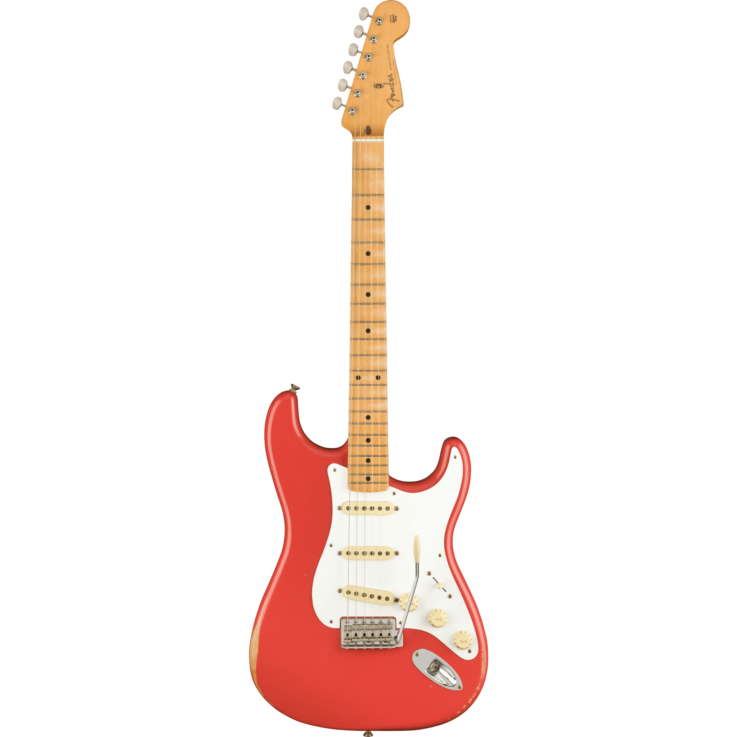 Fender Vintera Road Worn® '50s Stratocaster®, Maple Fingerboard, Fiesta Red