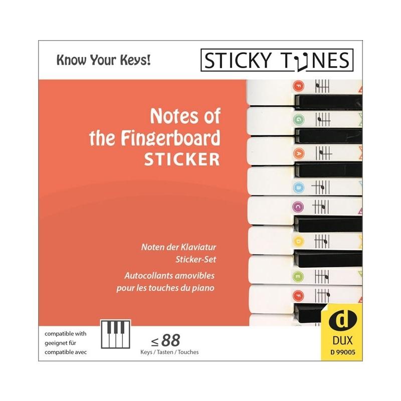 Sticky Tunes - Notes of the Fingerboard - Tastatur Aufkleber für Klavier und Keyboard