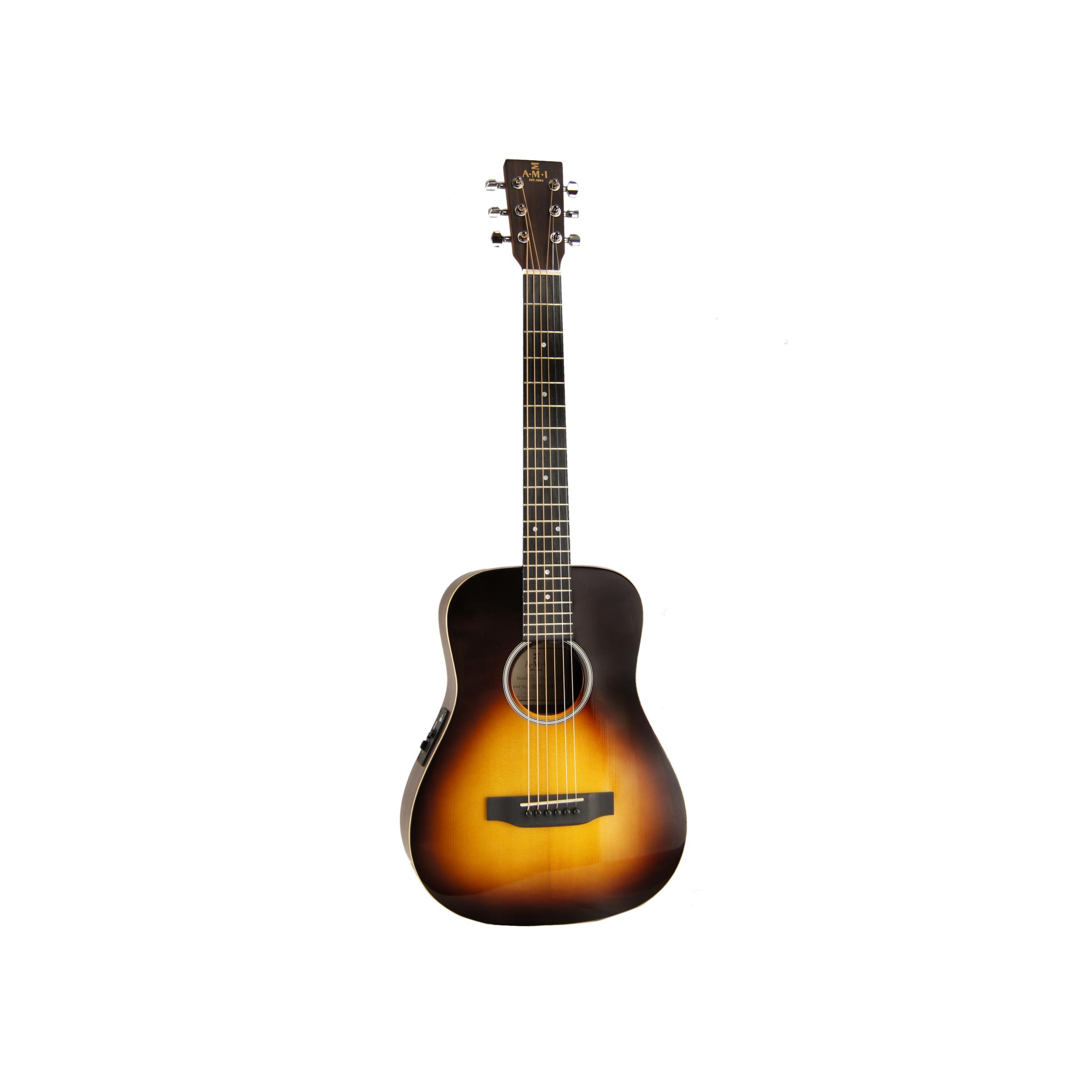 AMI Guitars TG-120E-SB Travelergitarre mit Tasche