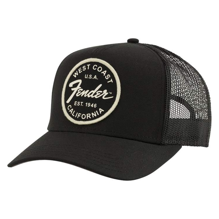 Fender West Coast Trucker Cap schwarz