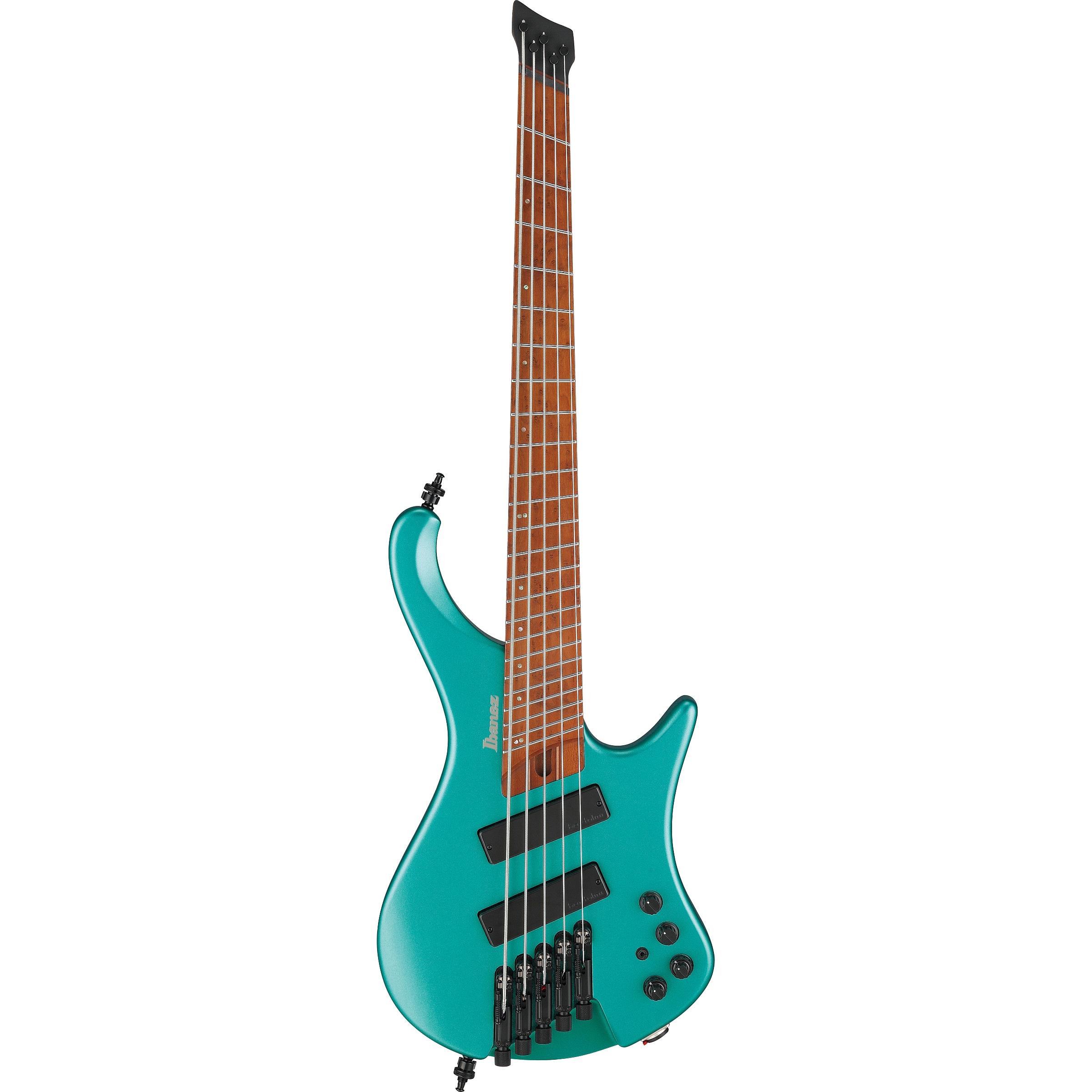 Ibanez EHB1005SMS-EMM E-Bass 5-String short Multiscale Emerald Green Metallic + Gigbag