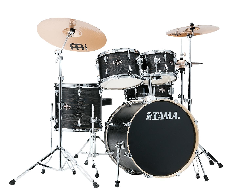 """TAMA Imperialstar IE50H6W-BOW 20"""" Drumset Black Oak Warp + Beckenset"""