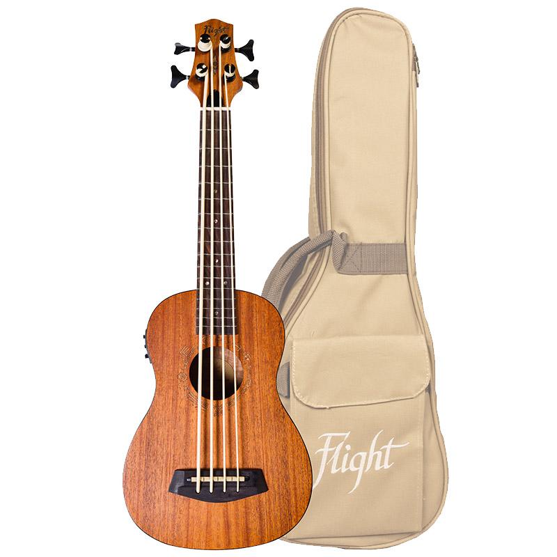 Flight DUBS Bass-Ukulele mit Tasche