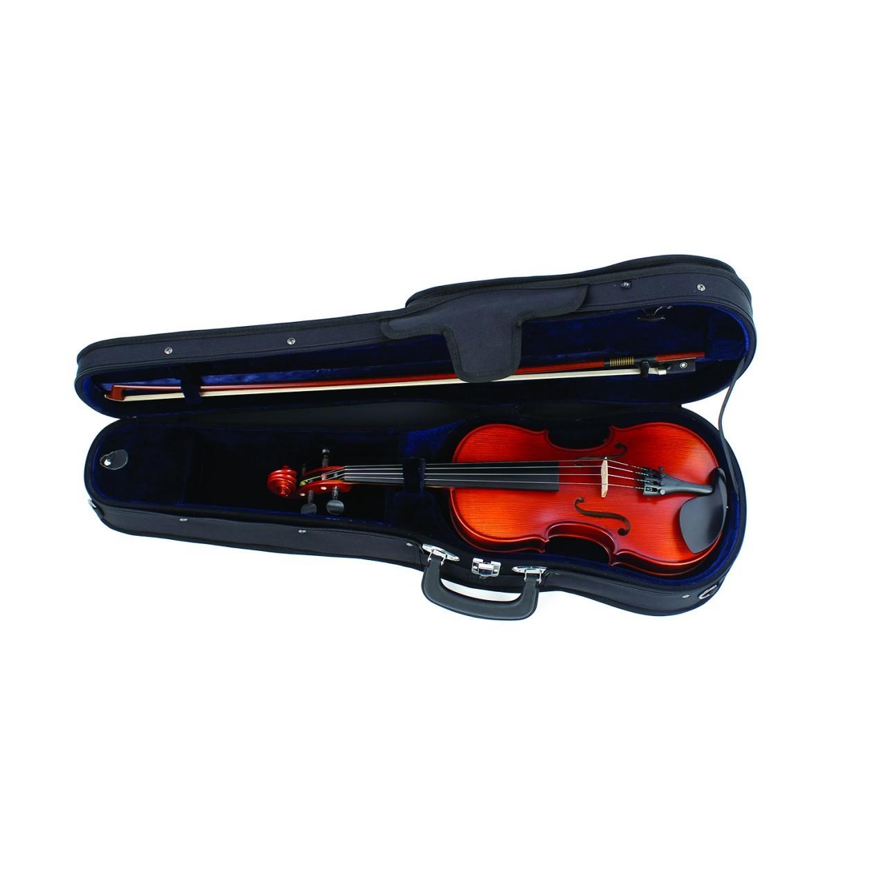 Höfner Violingarnitur II 4/4 golden handlackiert mit Etui + Bogen