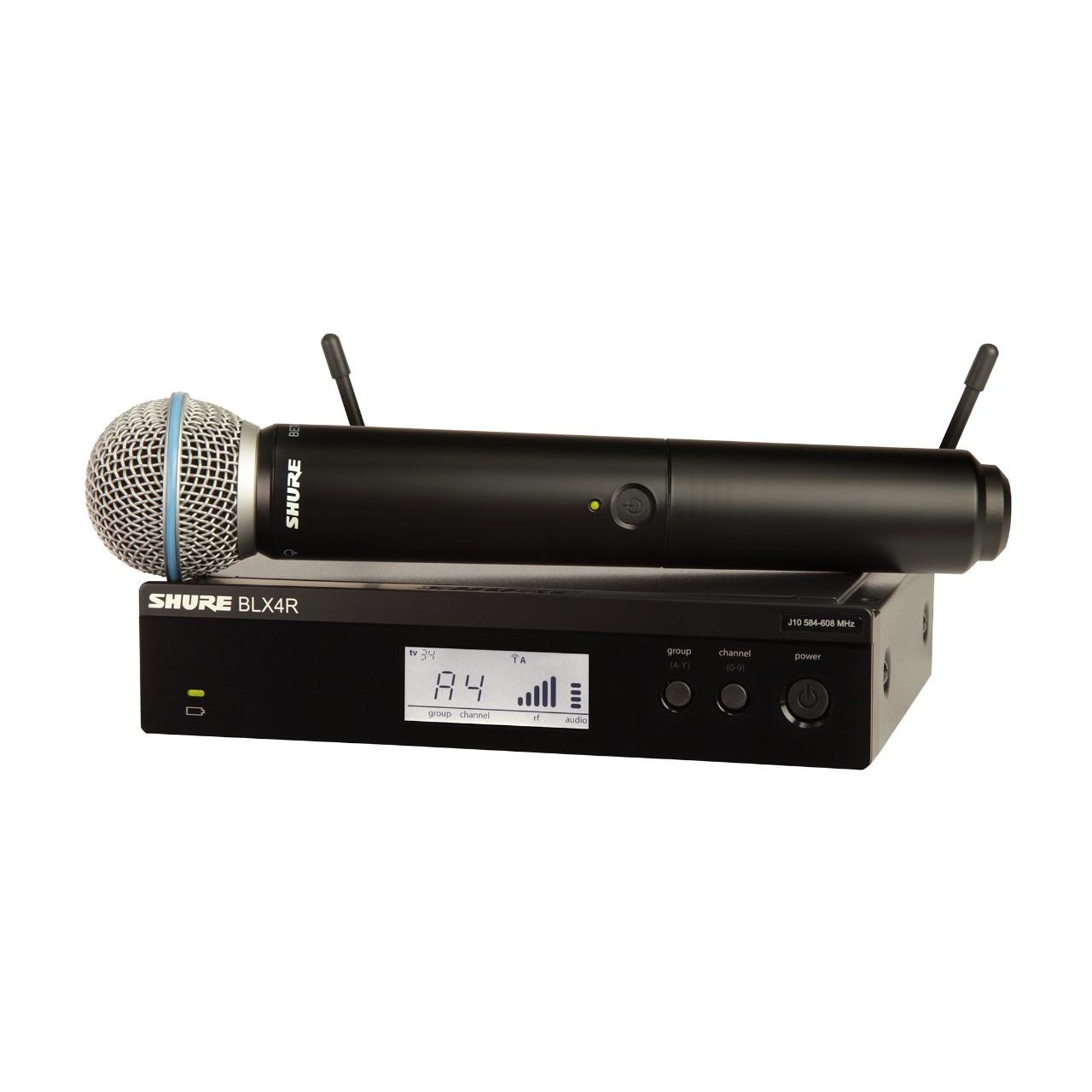 Shure BLX24R/B58 S8 Funksystem mit Beta 58A Mikrofon und Rackempfänger