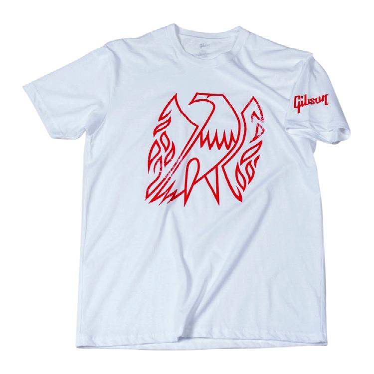 Gibson T-Shirt Firebird white M