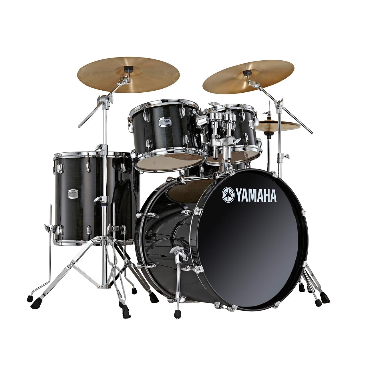 "Yamaha Stage Custom Birch 20"" Raven Black Schlagzeugset inkl. Hardware"