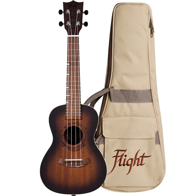 Flight Ukulele DUC 380 Amber Konzert inklusive Tasche