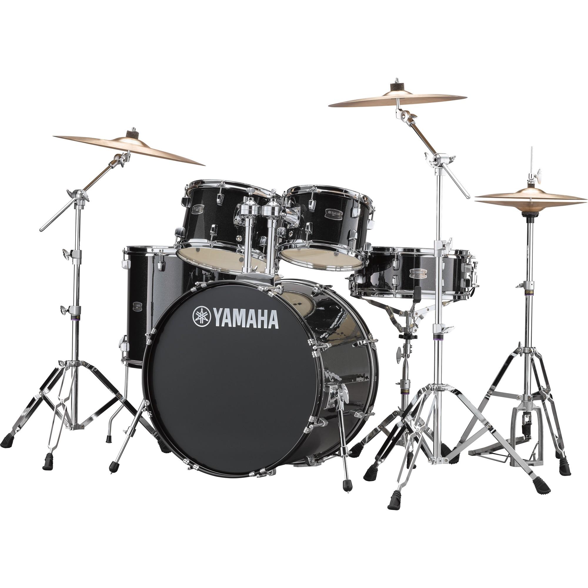 """Yamaha Rydeen 22"""" black glitter Schlagzeugset inkl. Becken"""