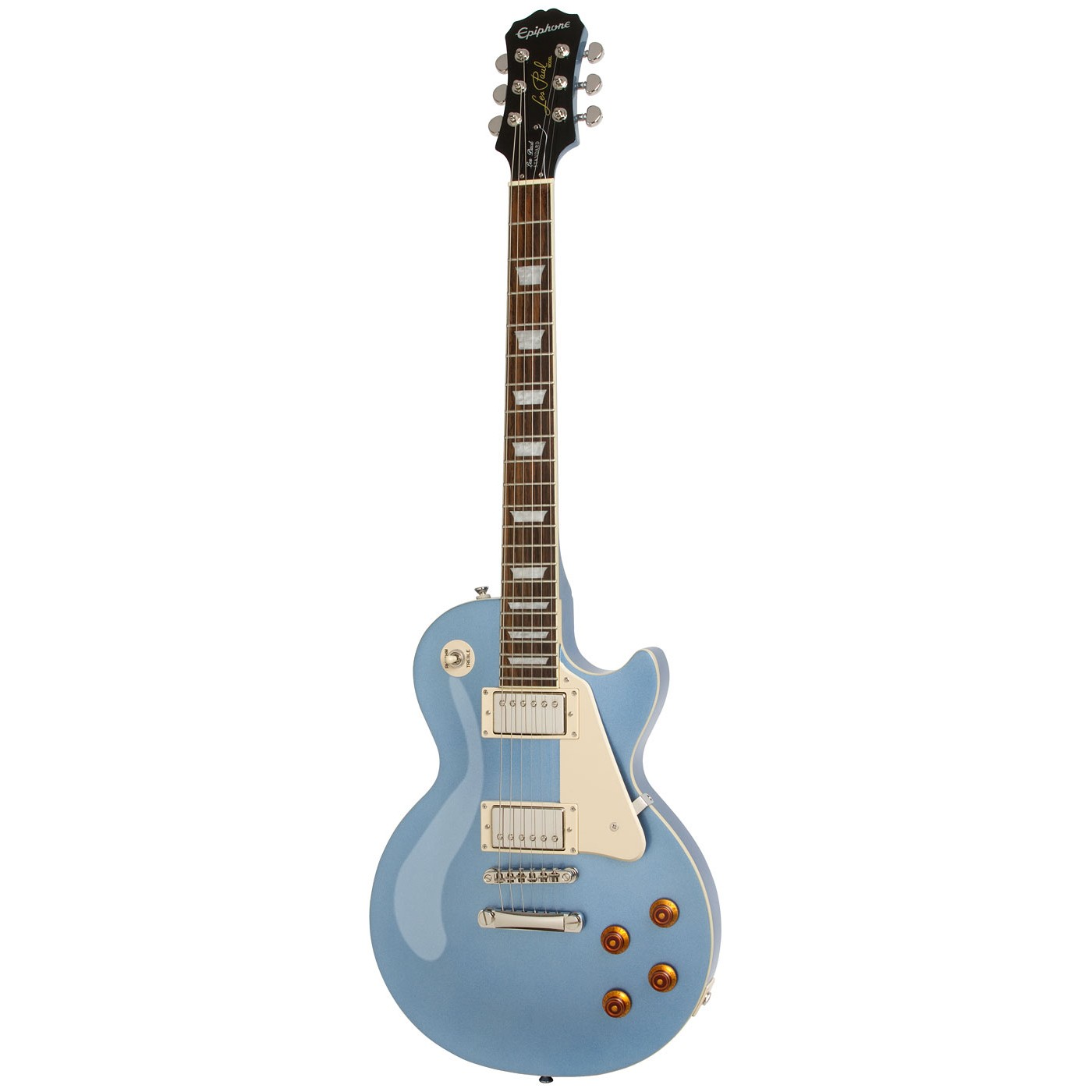 Epiphone Les Paul Standard Pelham Blue B-Ware (reparierter Halsriss und kleiner Lackschaden am Korpus)