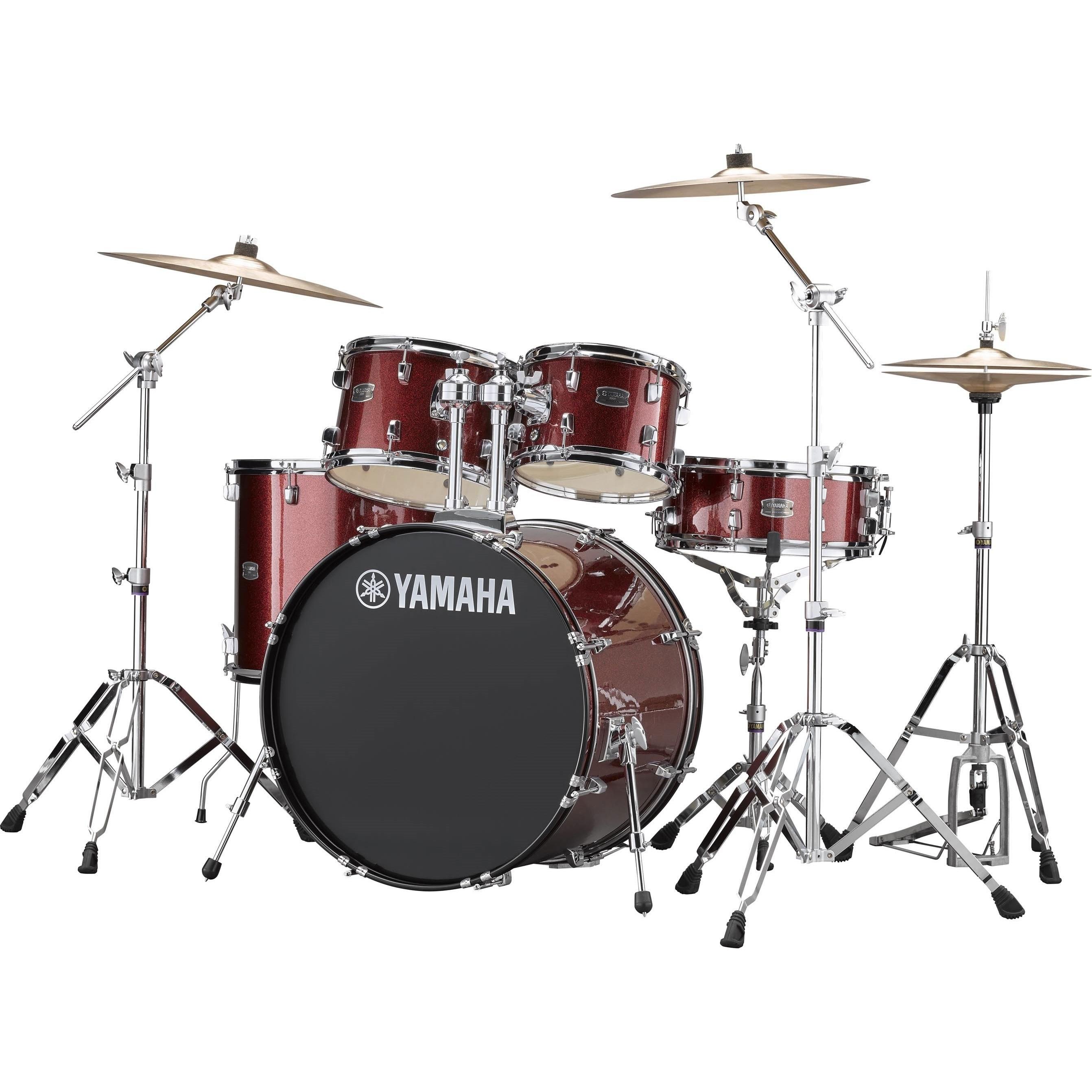 """Yamaha Rydeen 22"""" burgundy red glitter Schlagzeugset inkl. Becken"""