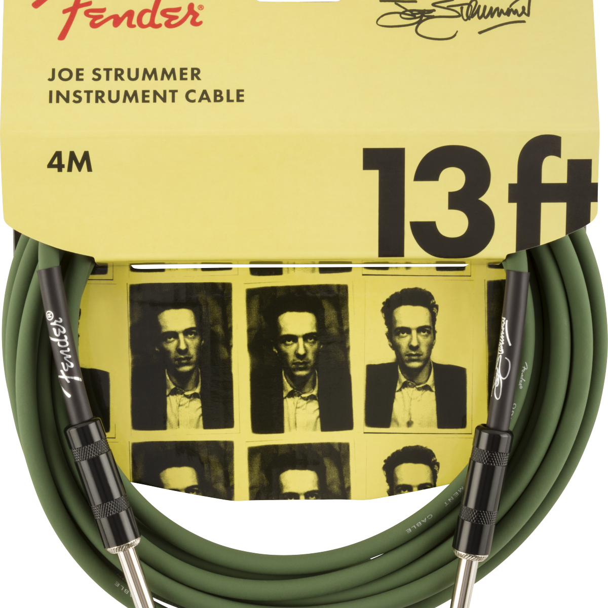 Fender Strummer Pro 13' Instrument Cable, Drab Green 4m