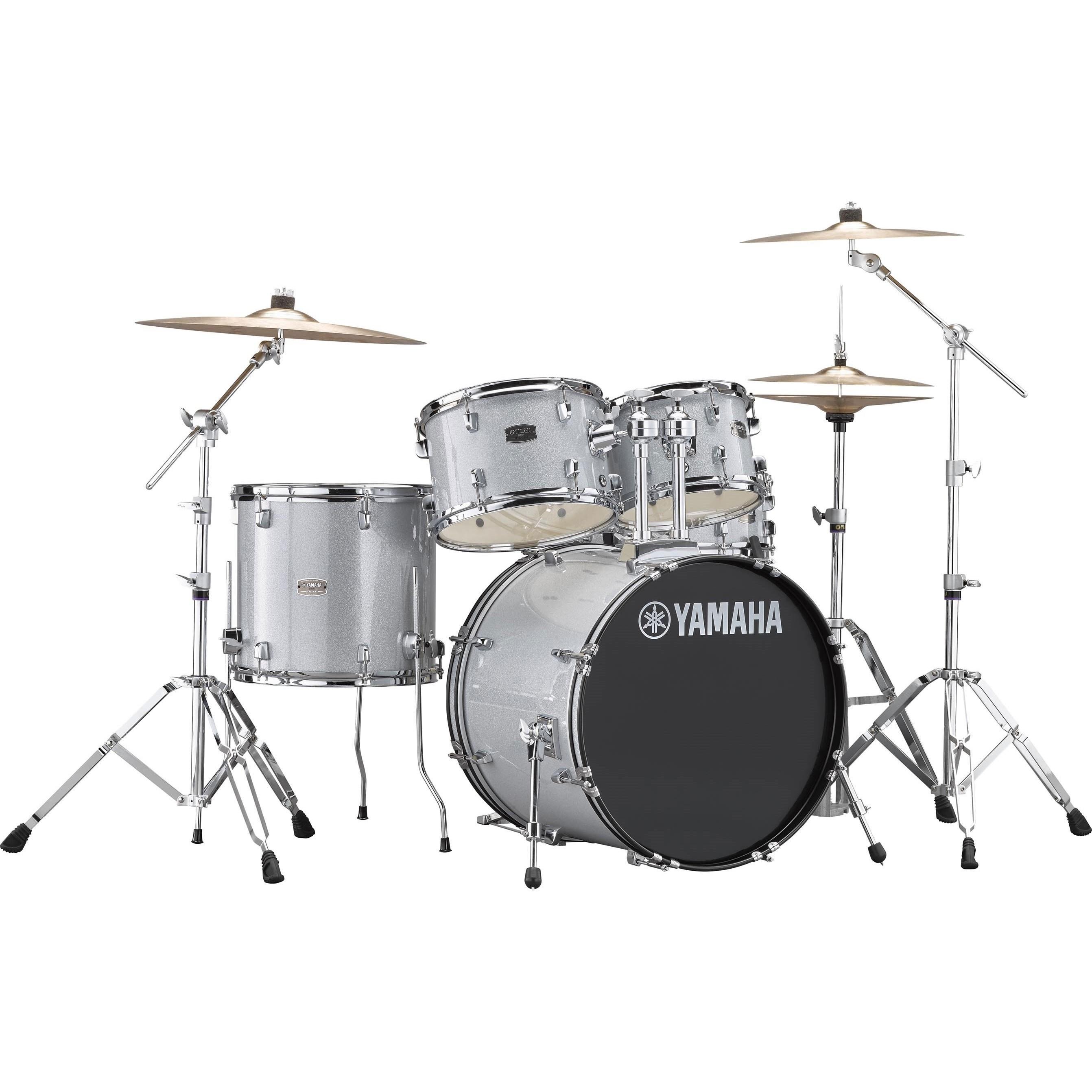 """Yamaha Rydeen 20"""" Silver Glitter Schlagzeugset inkl. Becken"""