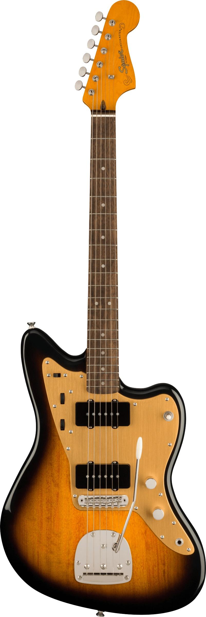 Squier FSR Classic Vibe Late '50s Jazzmaster®, Laurel Fingerboard, Gold Anodized Pickguard, 2-Color Sunburst