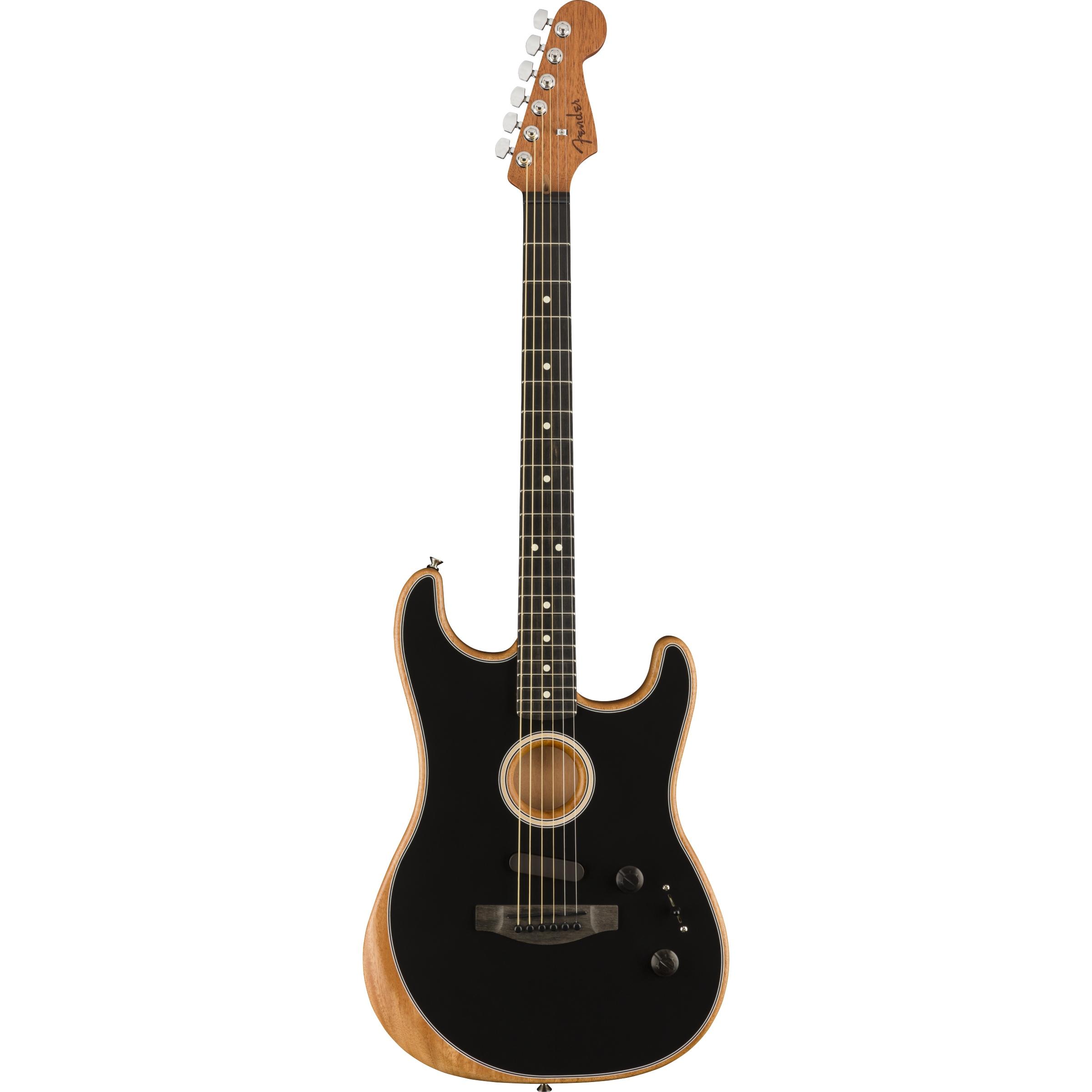 Fender American Acoustasonic® Strat®, Ebony Fingerboard, Black