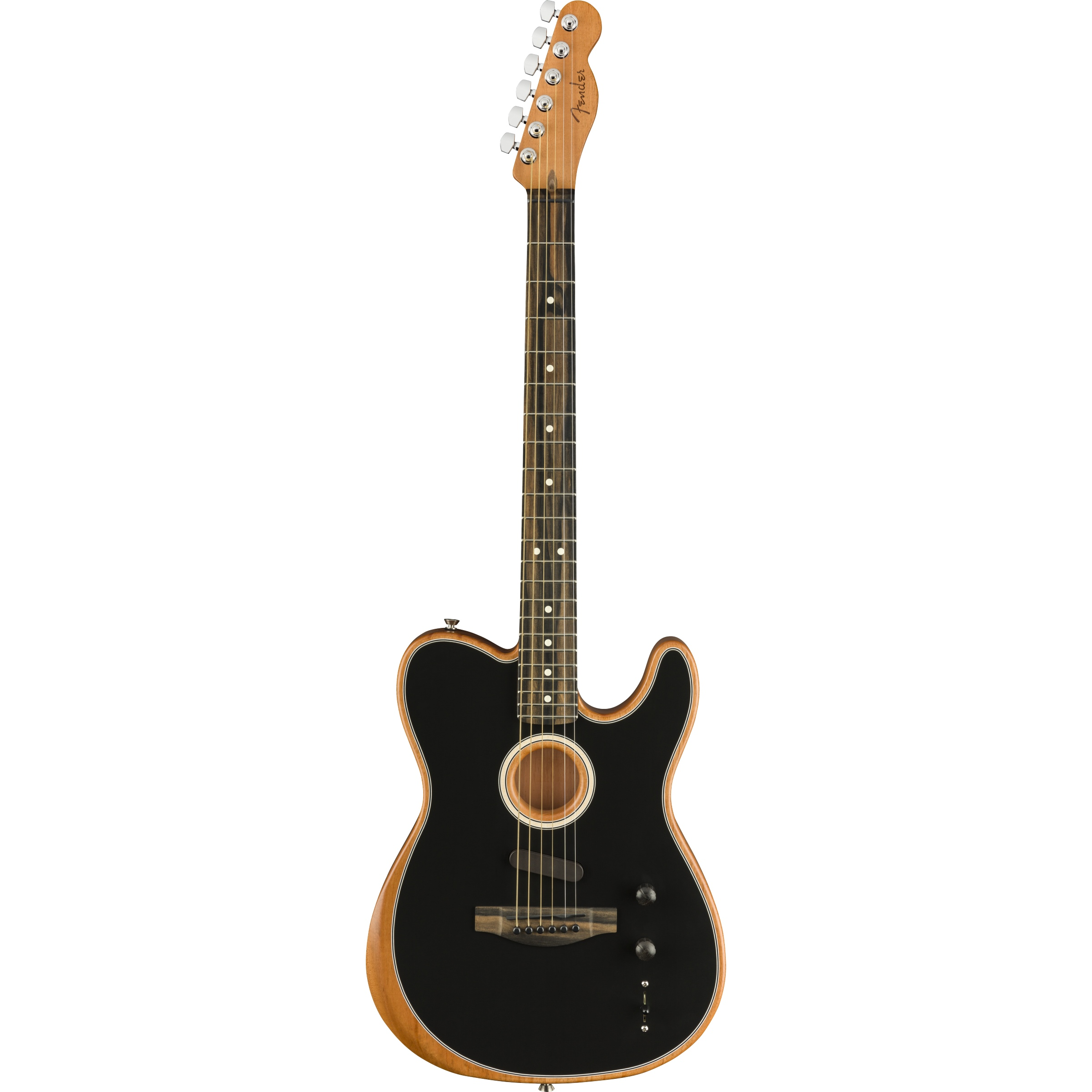 Fender American Acoustasonic® Telecaster®, Ebony Fingerboard, schwarz