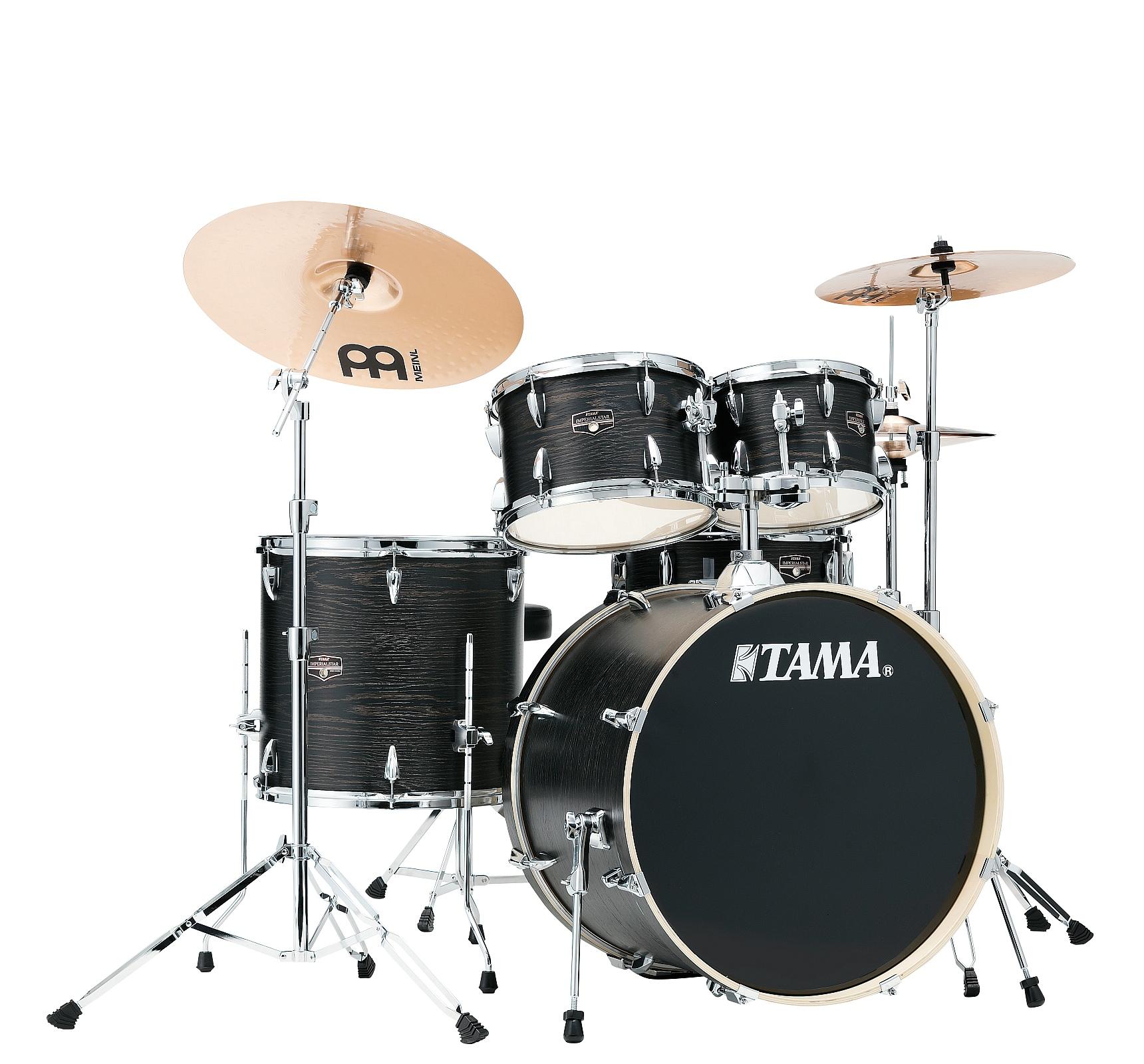 """TAMA Imperialstar IE52KH6W-BOW 22"""" Drumset Black Oak Warp + Beckenset"""