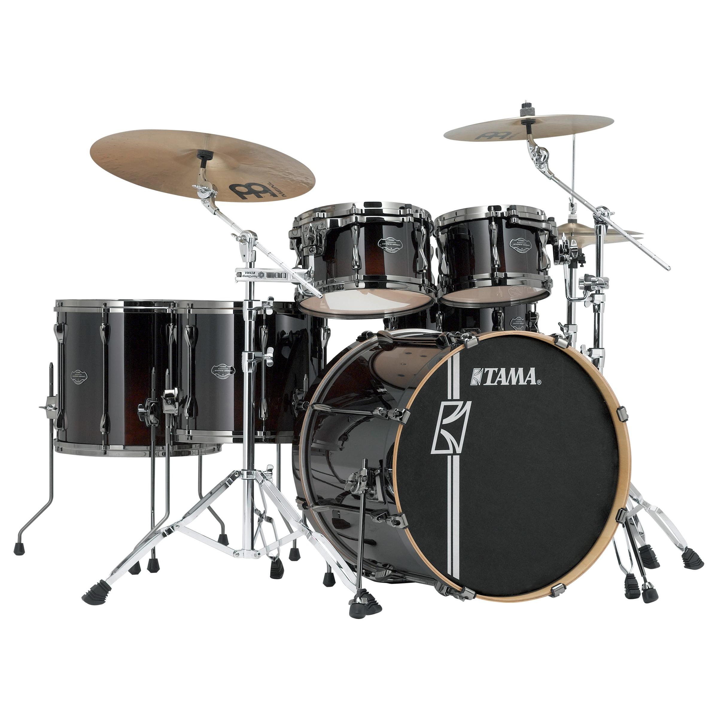 "TAMA Superstar Hyper-Drive Drumset 5-teilig 22""/10""/12""/14""/16"" Dark Mocha Fade, inklusive Hardware ohne Snare"