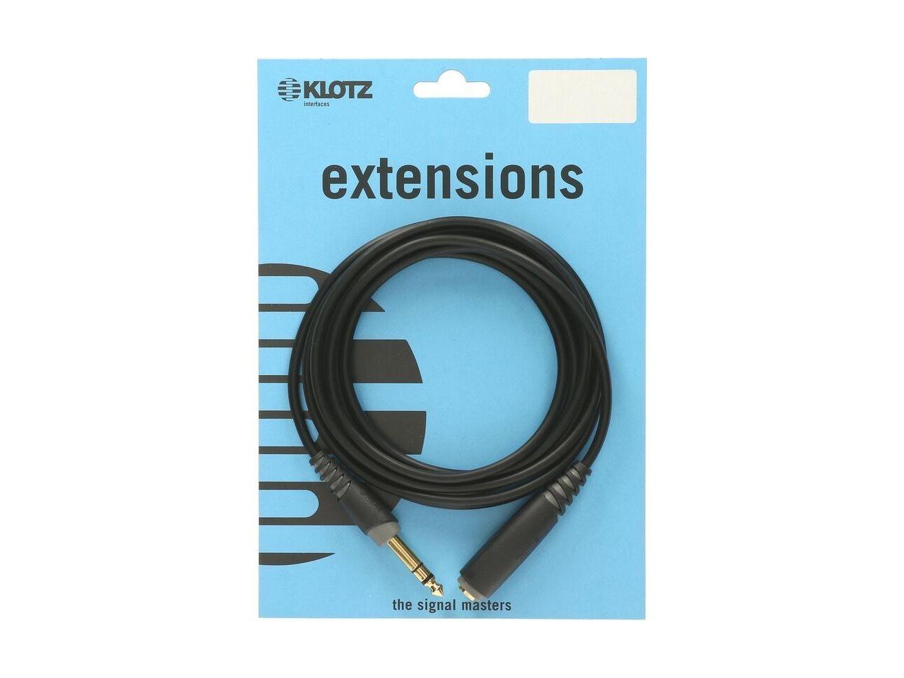Klotz Kopfhörer-Verlängerung 6,3 mm Klinke stereo 3m