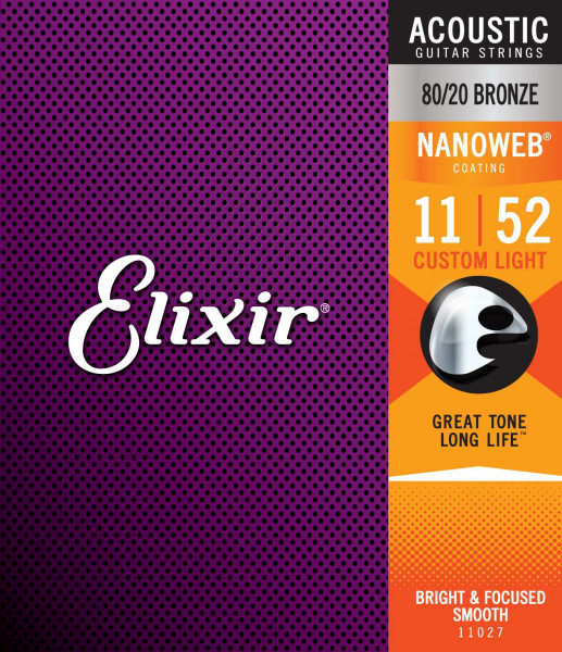 Elixir 11er Nanoweb 80/20 Bronze