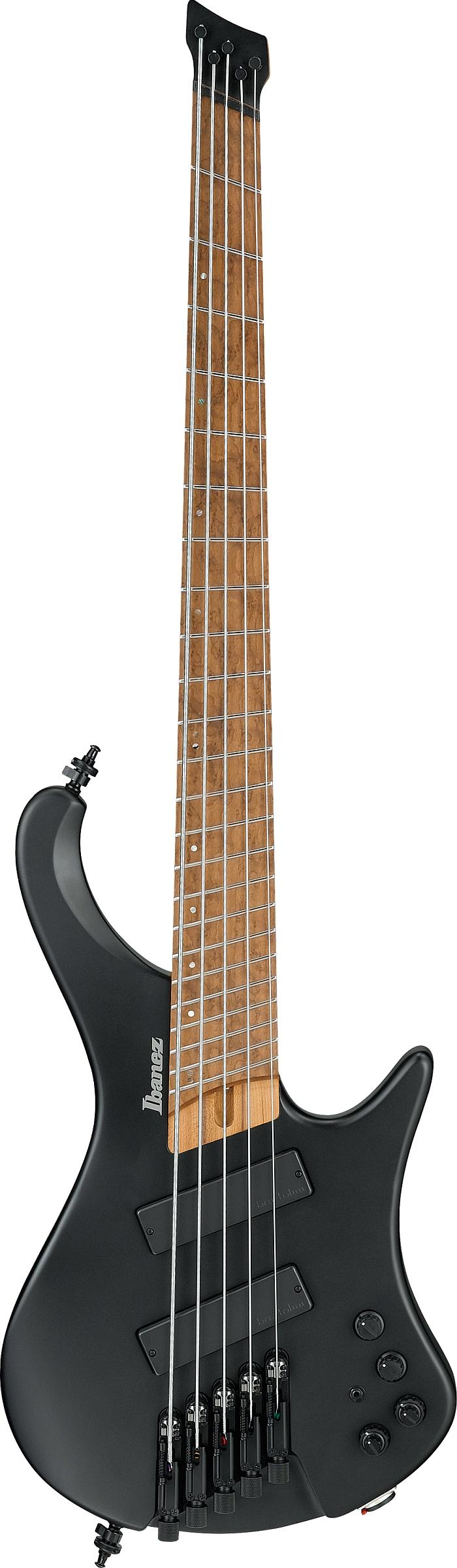 Ibanez EHB1005MS-BKF E-Bass 5-String Multiscale Black Flat + Gigbag