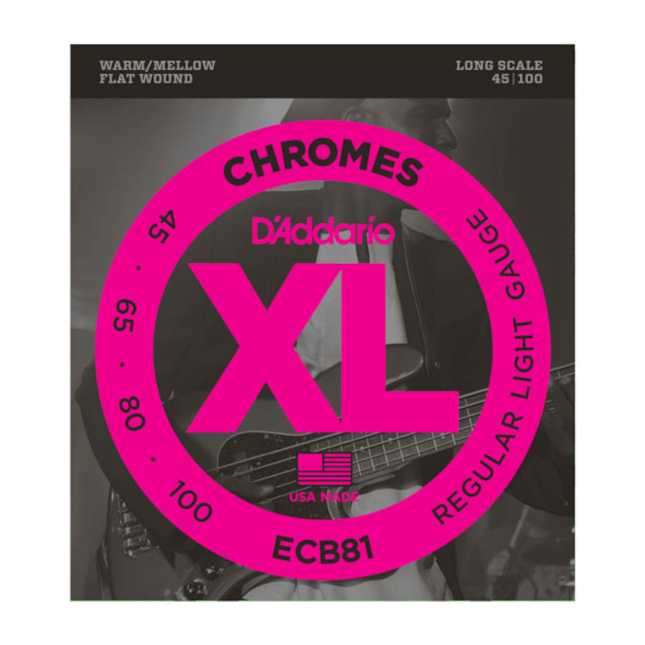 D'Addario E-Bass ECB81 Chromes flatwound 45 - 100