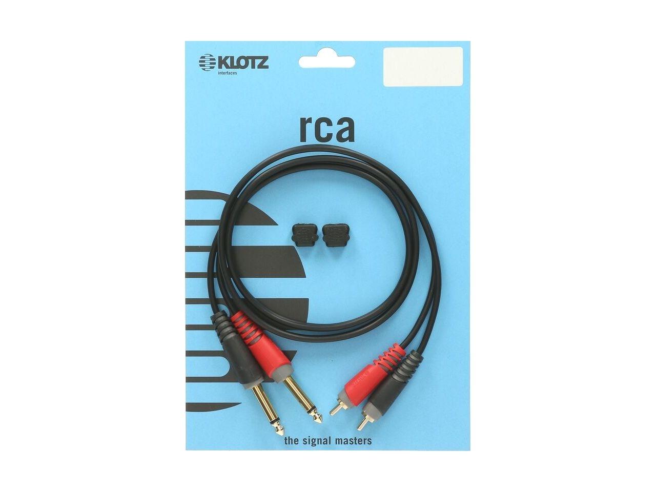 Klotz 2x Klinke 6,3 mono an 2x RCA 2m