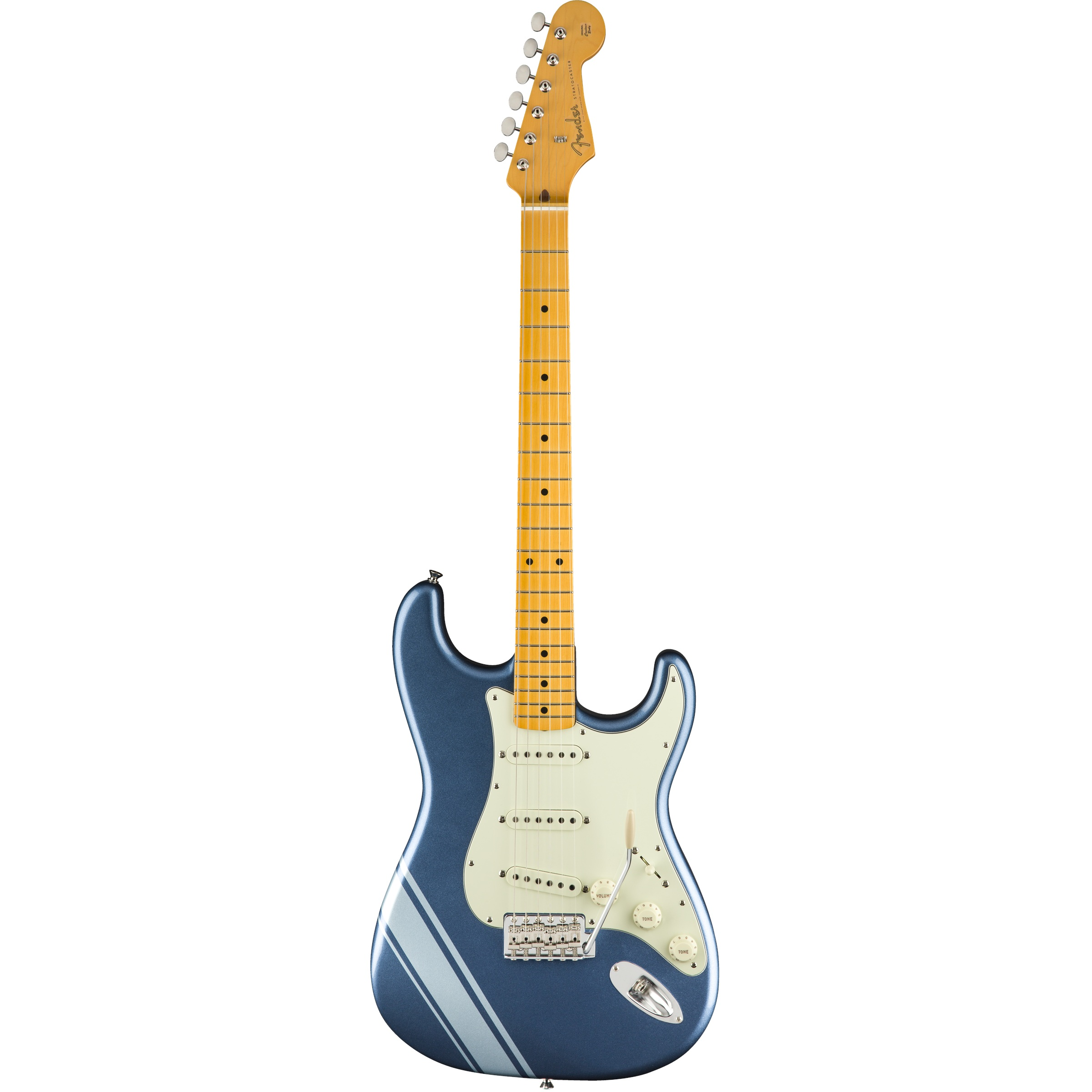 Fender FSR 50s Strat Lake Placid Blue with Stripe inklusive Tasche - B-Ware