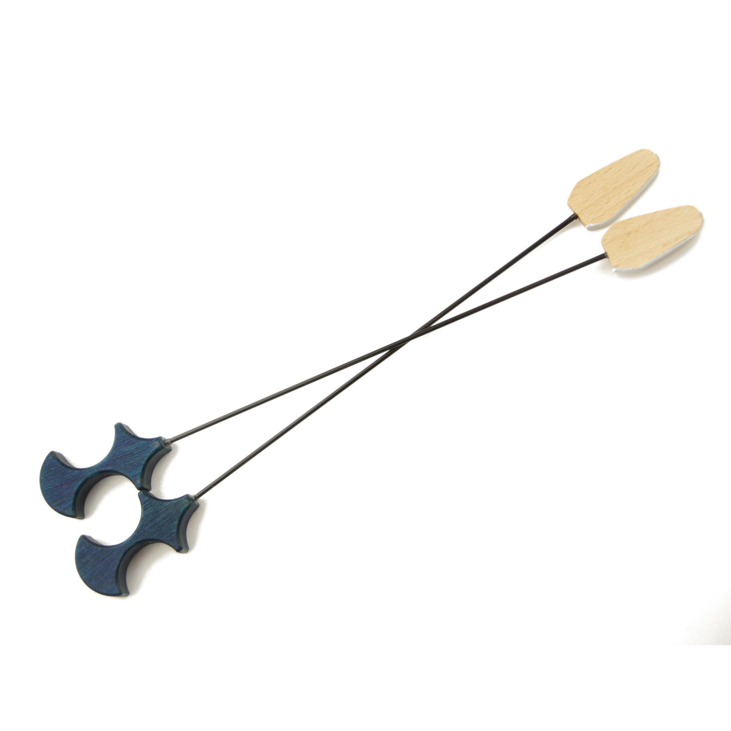 Goldsteg Hackbrettschlägel Carbon Leder/Filz blau
