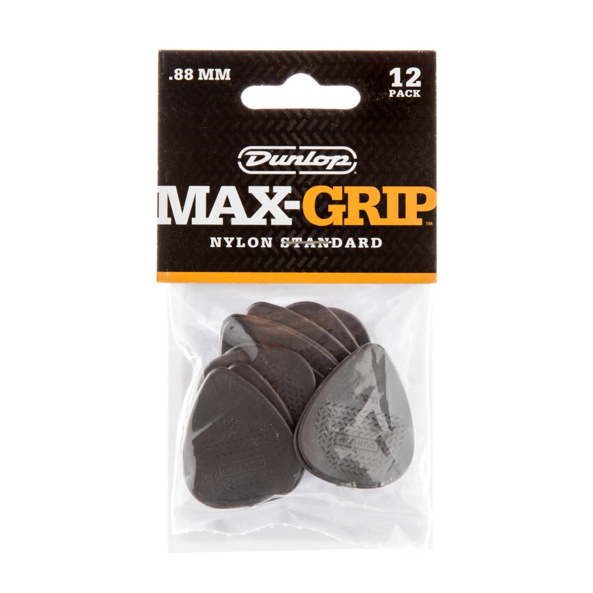 Dunlop Plectrum Nylon Max Grip 0,88mm 12 Stk