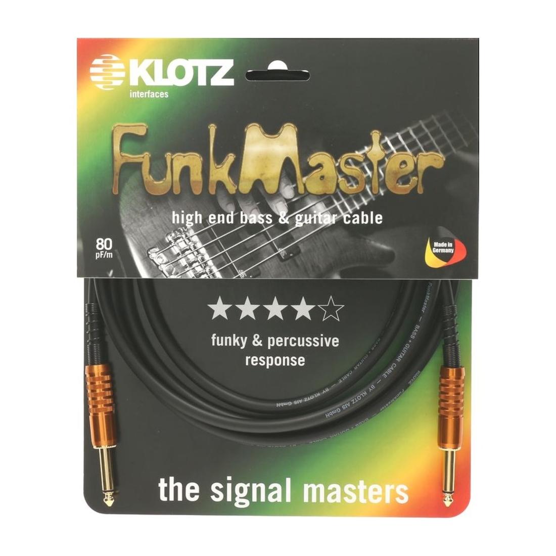 Klotz Instrumentenkabel Funk Master 6m
