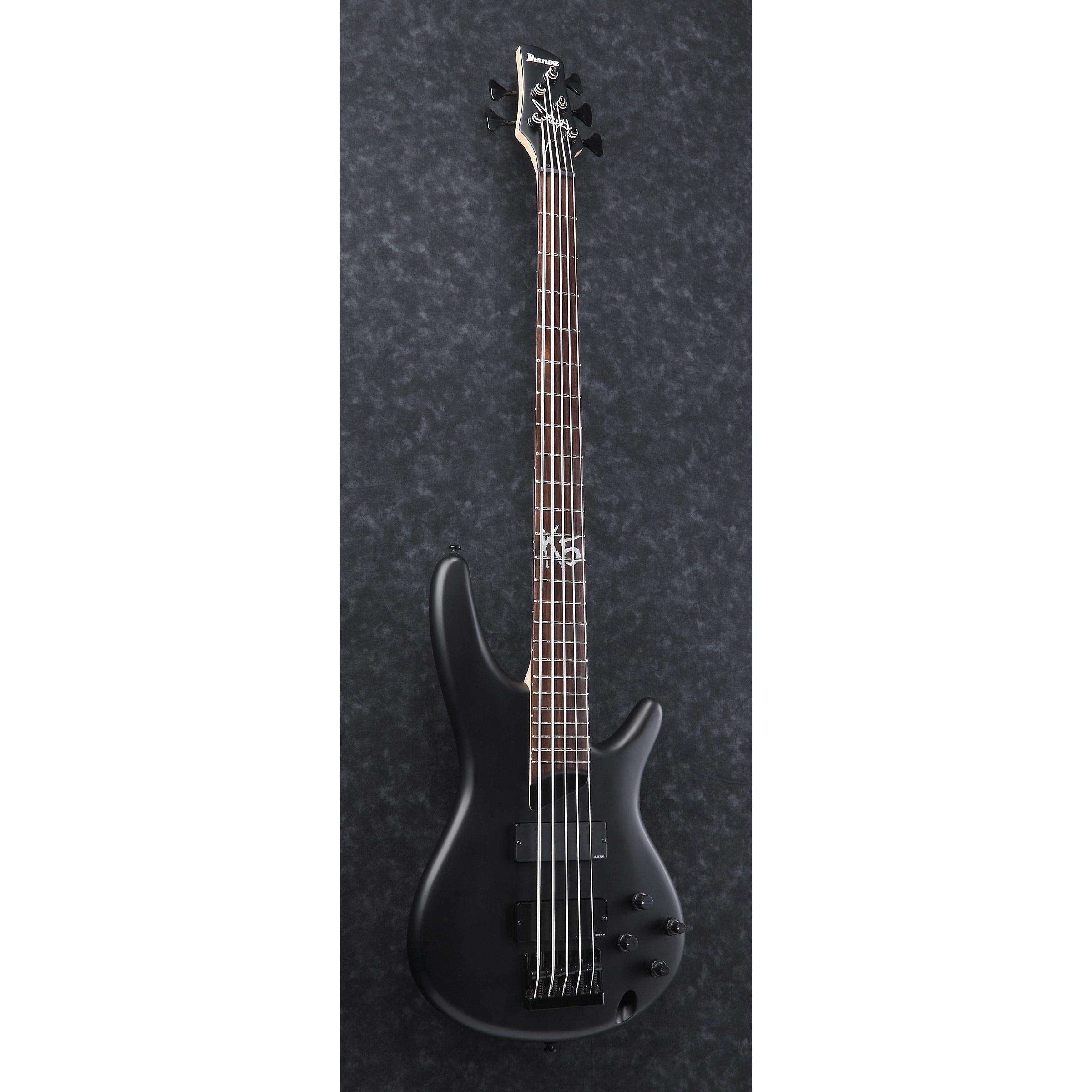 IBANEZ K5 Fieldy Signature E-Bass 5 String Black Flat -B-Stock-