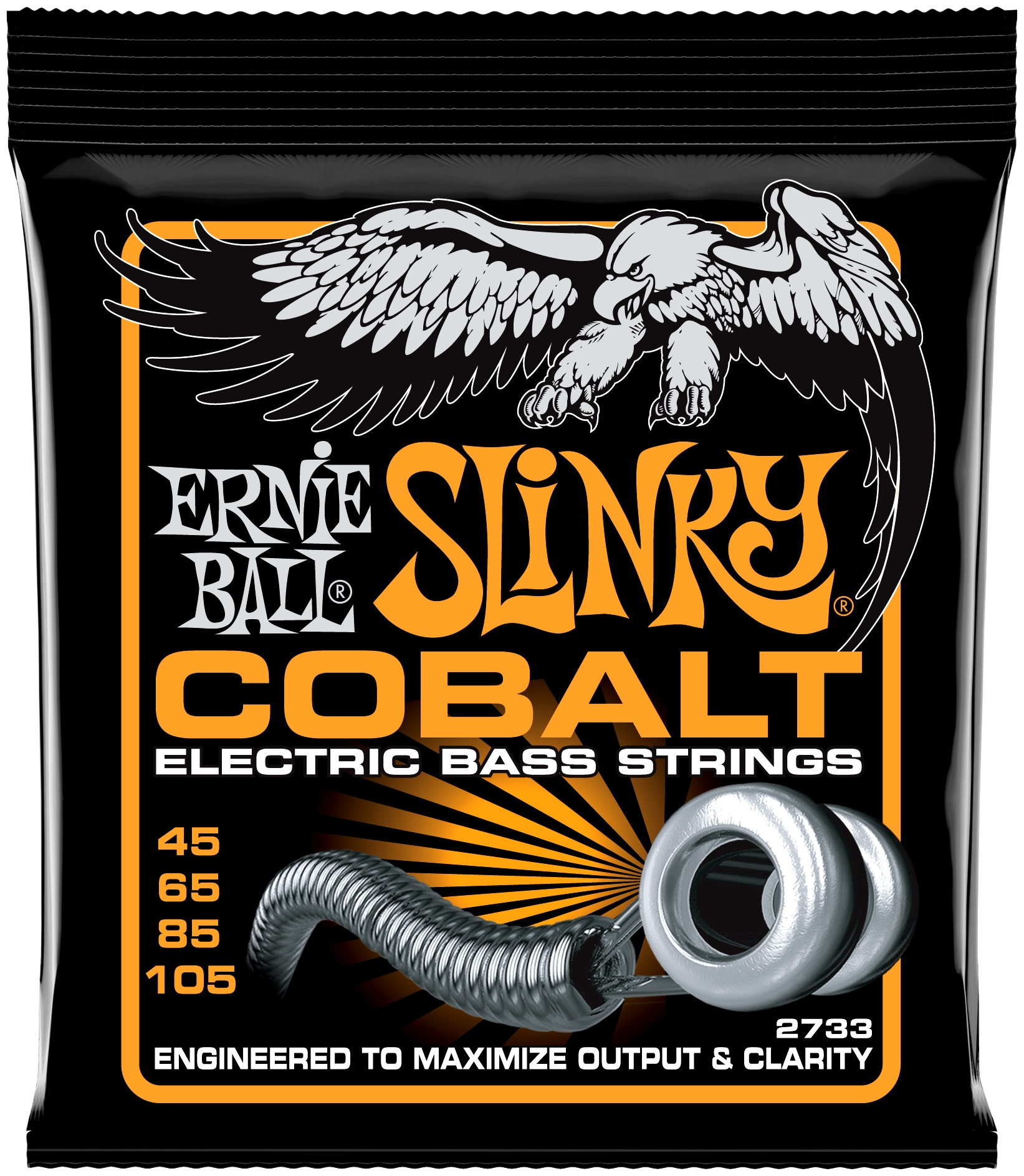 ERNIE BALL 2733 Slinky Cobalt Hybrid 45-105 E-Bass Saiten