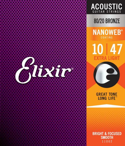 Elixir 10er Nanoweb 80/20 Bronze