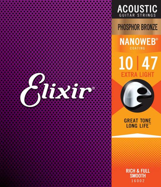 Elixir 10er Nanoweb Phosphorbronze