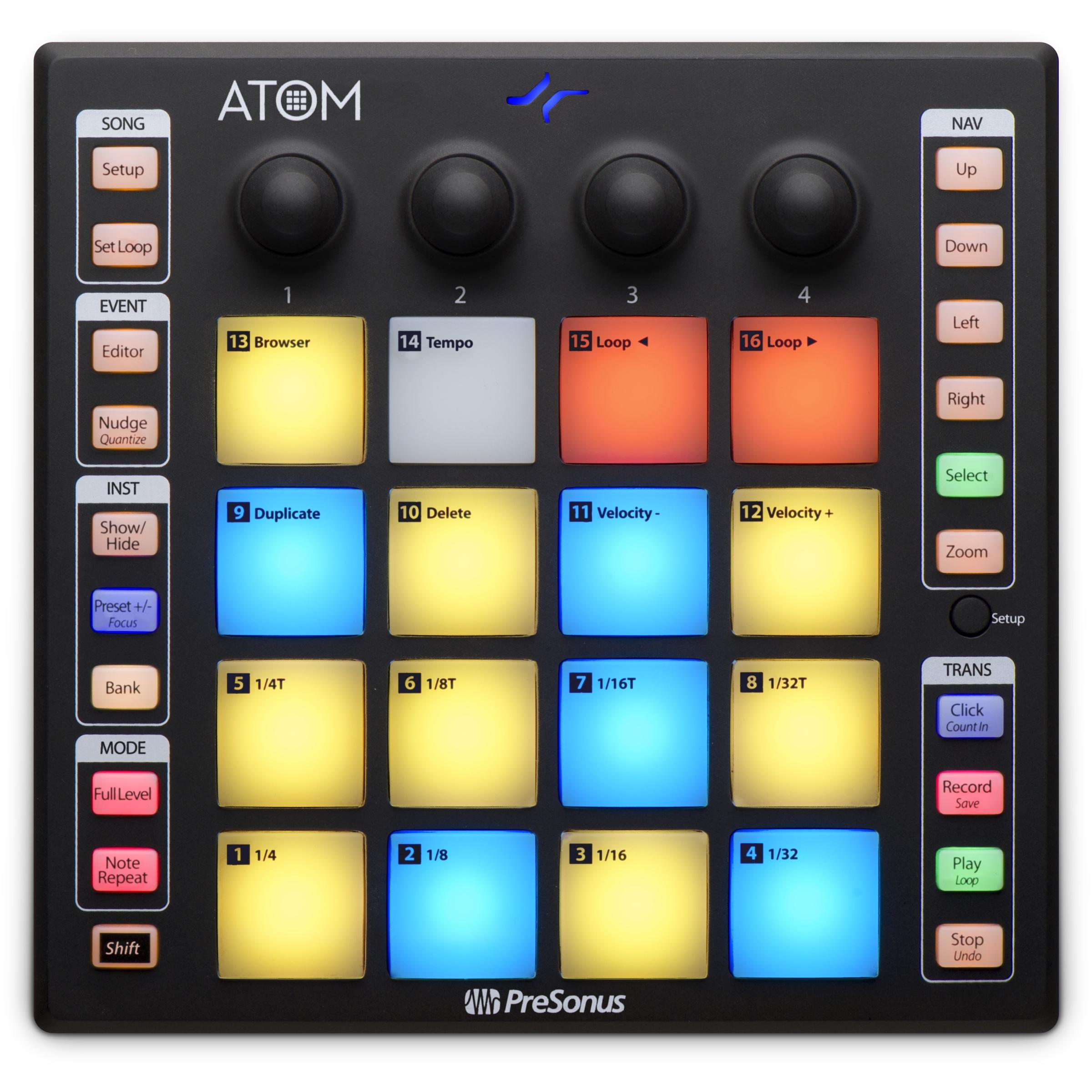 PreSonus Atom USB 16-Pad MIDI Controler