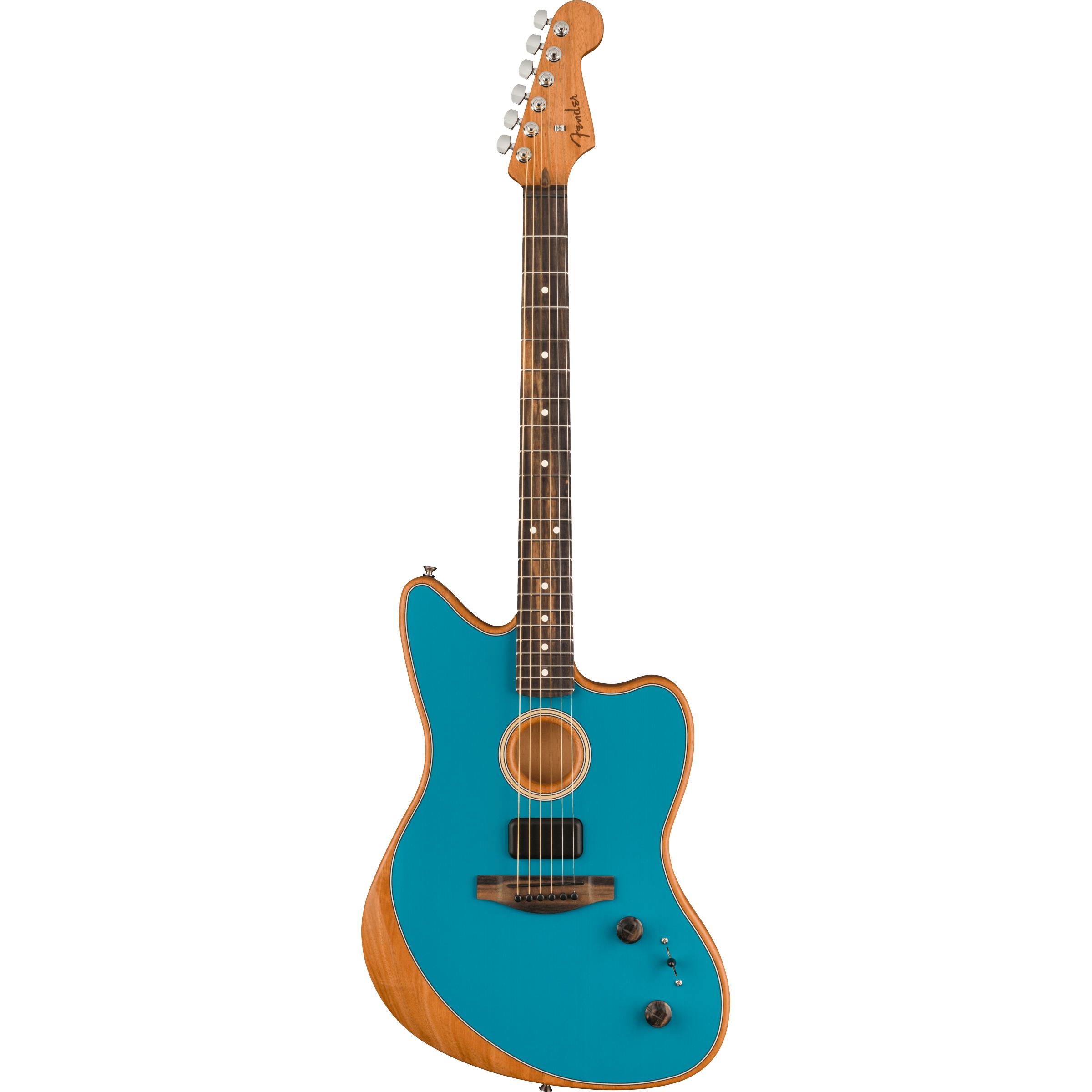 American Acoustasonic® Jazzmaster®, Ocean Turquoise, Ebony Fingerboard